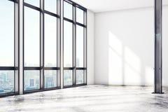 Modernt vindgalleri med den tomma väggen royaltyfri illustrationer