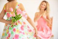 Moders begrepp för ferie för vår för dag arkivbilder