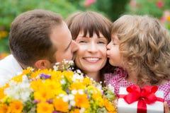 Moders hälsning för dag arkivfoto