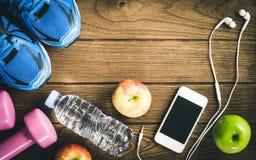 Modes de vie de forme physique, sains et actifs concept, bouteille de l'eau, Photographie stock libre de droits