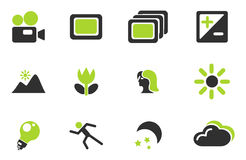Modes des icônes de silhouette de photo Photos libres de droits