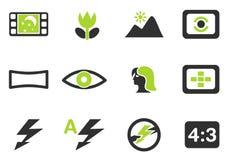 Modes des icônes de silhouette de photo Photo stock