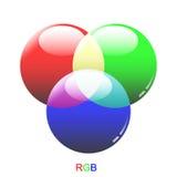 Modes en verre de couleur de RVB Images libres de droits