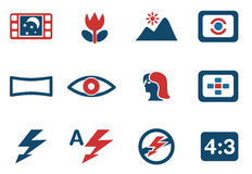 Modes of Photo Silhouette Icons Royalty Free Stock Image