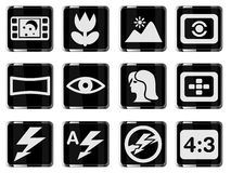 Modes of Photo Silhouette Icons Royalty Free Stock Photo