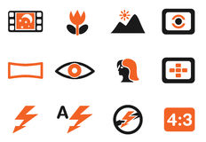 Modes of Photo Silhouette Icons Stock Photo