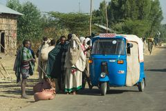 Modes of transport in Ethiopia, Africa Royalty Free Stock Images