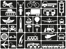 Modes of transport icons Royalty Free Stock Images