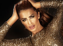 Modeschönheitsporträt der schönen Frau Lizenzfreie Stockbilder