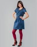 Modeschau im Moskau-Fotostudio Stockbild