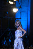 Modeshowförgrund MADDALENA CORVAGLIA Arkivfoto