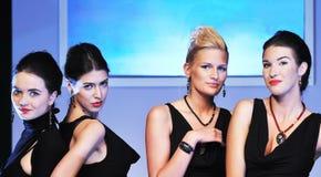 Modeshowkvinna Royaltyfri Fotografi