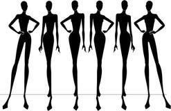 modesilhouettes Royaltyfri Bild
