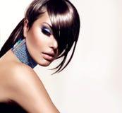 Modeskönhetflicka Fotografering för Bildbyråer