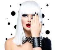 Modeskönhetmodell Girl royaltyfri bild