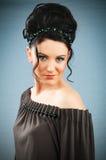 Modeskönhetbegrepp med kvinnan Royaltyfria Bilder