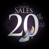 Modeskor för försäljningar och erbjudanden Royaltyfria Bilder