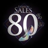 Modeskor för försäljningar och erbjudanden Royaltyfri Fotografi