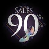 Modeskor för försäljningar och erbjudanden Royaltyfri Bild