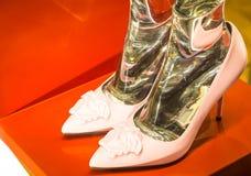 Modeskor i Milan - Italien Royaltyfria Foton