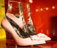 Modeskor i Milan - Italien Royaltyfria Bilder