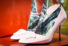 Modeskor i Milan - Italien Royaltyfri Fotografi