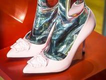 Modeskor i Milan - Italien Royaltyfri Foto