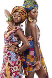 Modesl africano bonito da forma no vestido tradicional. Foto de Stock Royalty Free