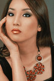 modesminkkvinna Royaltyfri Fotografi