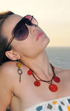 modesolglasögonkvinna Royaltyfria Bilder