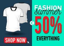 Modesommer-Netzfahne Verkauf Lizenzfreie Stockfotografie