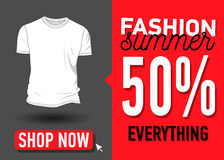 Modesommer-Netzfahne Verkauf Stockfotografie