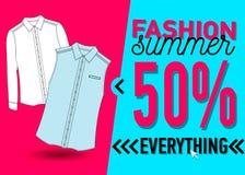 Modesommer-Netzfahne Verkauf Stockfotos