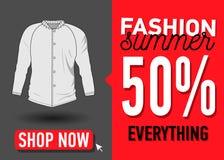 Modesommer-Netzfahne Verkauf Stockbilder