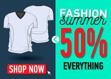 Modesommer-Netzfahne Verkauf Lizenzfreie Stockbilder