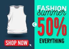 Modesommer-Netzfahne Verkauf Lizenzfreies Stockbild