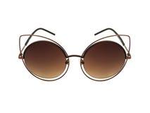 Modesonnenbrille lokalisiert auf Weiß Stockfotos