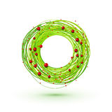 Modesrn style Christmas wreath Royalty Free Stock Image