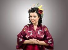 Modest kimono lady Royalty Free Stock Photo