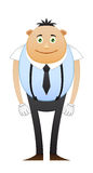 Modest office worker in suspenders. On white background Royalty Free Stock Image