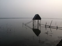 Modest straw hut of Indian fishermen Royalty Free Stock Photography