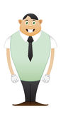 Modest trainee office man. Trainee office man on white background Royalty Free Stock Image