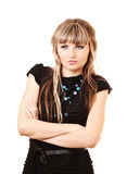 Modest unhappy young woman isolated Royalty Free Stock Image