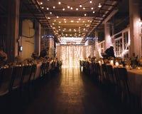 Modest wedding at art gallery stock image