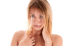 Modest young sexy woman Royalty Free Stock Photography