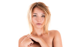 Modest young sexy woman Stock Photo