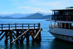 Modesta Victoria. The boat Modesta Victoria moored in Puerto Pañuelo, Bariloche royalty free stock image