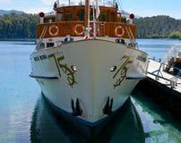 Modesta Victoria. The boat Modesta Victoria in the Port of Victoria Island stock image