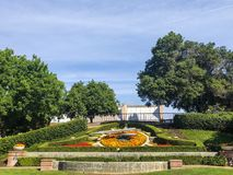 Modesto Flower Clock Garden histórico imagem de stock royalty free