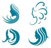 Modesymbol. symbol av kvinnlig skönhet Royaltyfri Bild